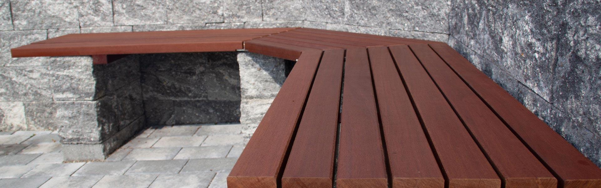 Gartenbank aus Bakirai Holz